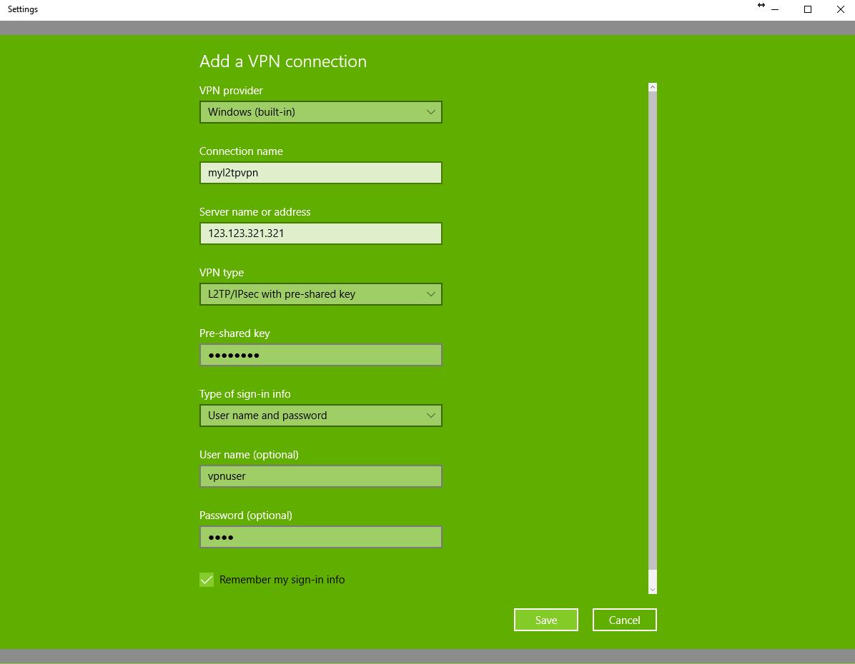 Unifi usg l2tp windows 10