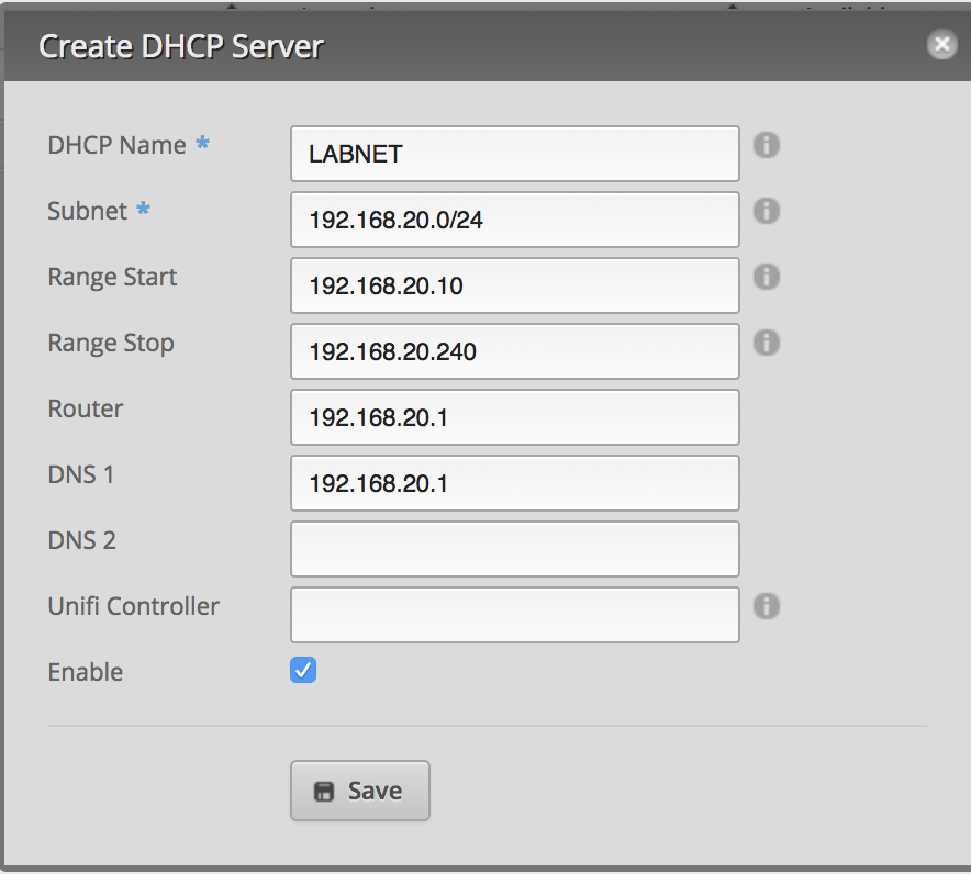 EdgeRouter - Configure DHCP Server on EdgeRouter – Ubiquiti