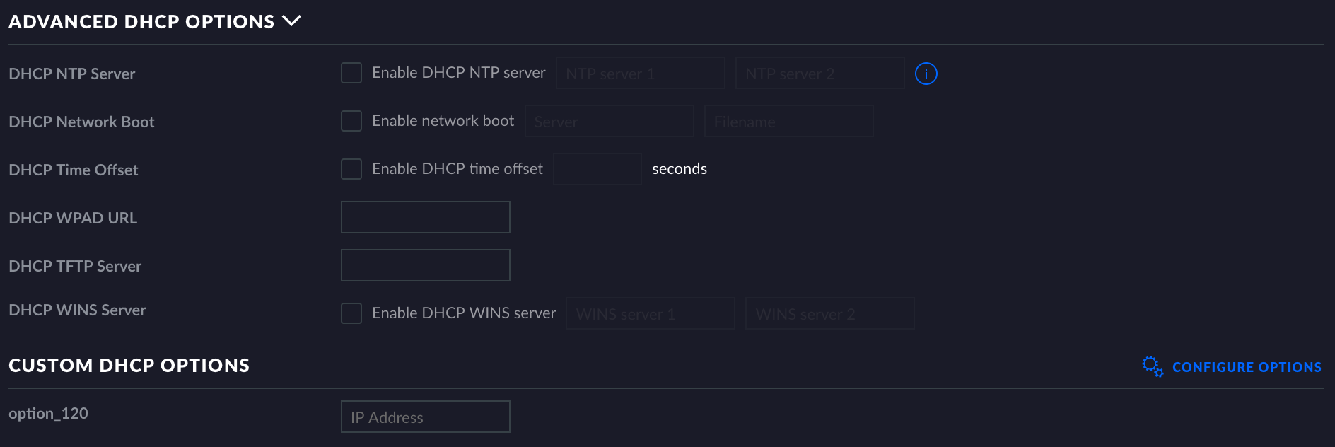 UniFi - USG: How to Configure Custom DHCP Options – Ubiquiti