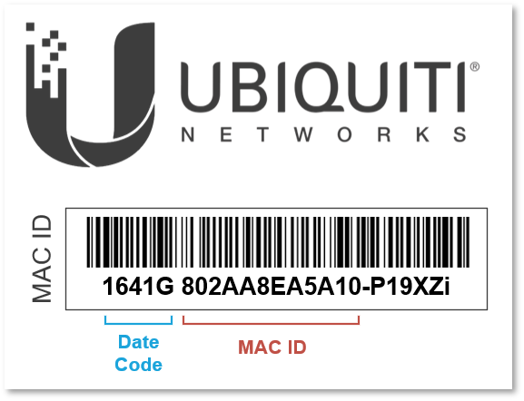 Where is the MAC ID and Date Code? – Ubiquiti Networks Support and