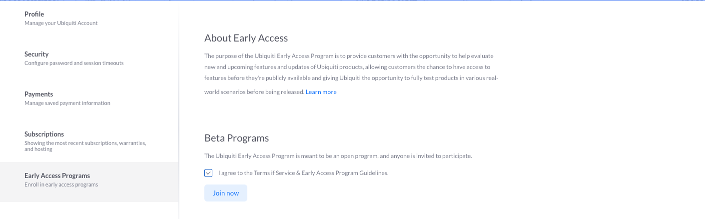 How To Sign Up for Early Access – Ubiquiti Networks Support