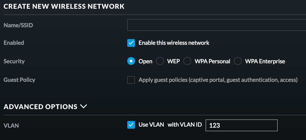 Currently The Only VLAN You Cant Tag To An SSID Is 1 Although That May Change In Future Once We Expand Ability Define A Management