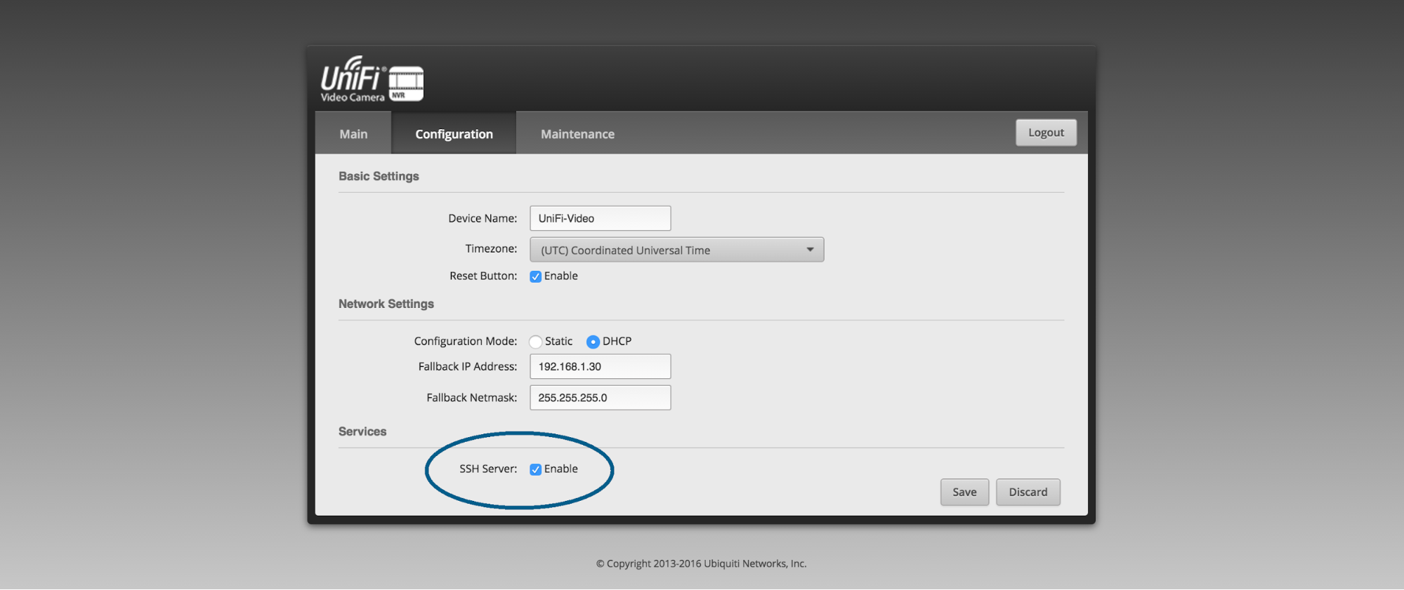 UniFi Video - How to Enable SSH on the UVC-NVR (Hardware NVR